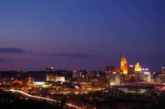 Skyline de Cincinnati Imagens de Stock Royalty Free