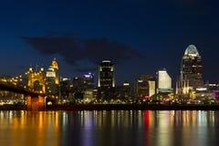 Skyline de Cincinnati Foto de Stock Royalty Free