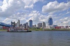 Skyline de Cincinnati Imagens de Stock