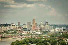 Skyline de Cincinnati Ohio imagem de stock royalty free