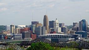 Skyline de Cincinnati Ohio Foto de Stock