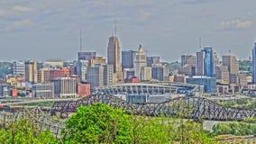 Skyline de Cincinnati Ohio Fotos de Stock