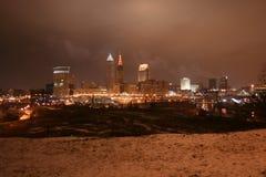Skyline de Cleveland Imagens de Stock