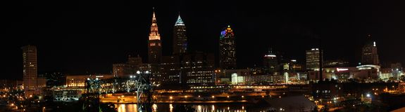 Skyline de Cleveland Ohio Imagem de Stock Royalty Free