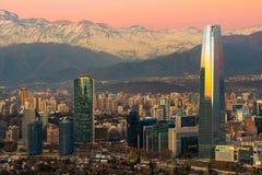 Skyline de construções modernas em distric financeiro Foto de Stock