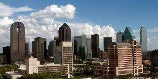 Skyline de Dallas Foto de Stock