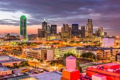 Skyline de Dallas Texas Imagens de Stock Royalty Free