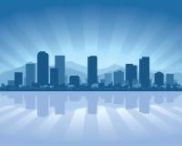 Skyline de Denver ilustração royalty free