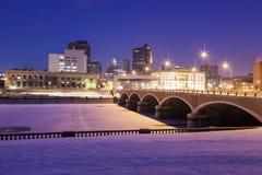 Skyline de Des Moines Fotografia de Stock