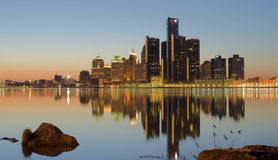 Skyline de Detroit Foto de Stock