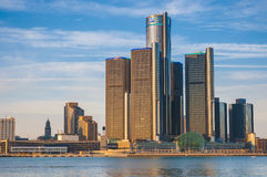 Skyline de Detroit foto de stock royalty free