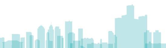 Skyline de Detroit Fotos de Stock