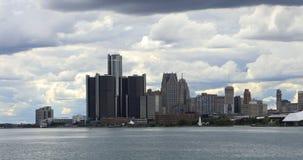Skyline de Detroit de Belle Isle 4K vídeos de arquivo