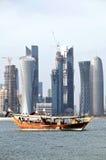 Skyline 2012 de Doha Foto de Stock