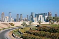 Skyline de Doha Fotografia de Stock