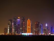 Skyline de Doha Catar fotos de stock
