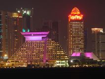 Skyline de Doha Catar fotografia de stock royalty free