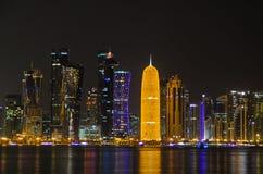Skyline de Doha, Catar, Médio Oriente Fotografia de Stock