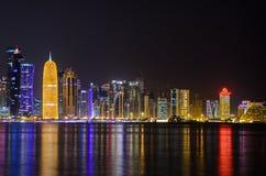 Skyline de Doha, Catar, Médio Oriente Imagem de Stock Royalty Free