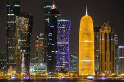Skyline de Doha, Catar, Médio Oriente Imagens de Stock