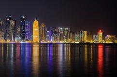 Skyline de Doha, Catar, Médio Oriente Fotos de Stock
