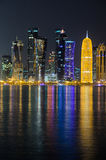 Skyline de Doha, Catar, Médio Oriente Imagens de Stock Royalty Free