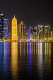 Skyline de Doha, Catar, Médio Oriente Foto de Stock
