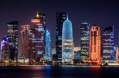 Skyline de Doha, Qatar Imagem de Stock