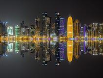 Skyline de Doha, Qatar Foto de Stock