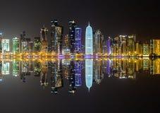 Skyline de Doha, Qatar Imagens de Stock