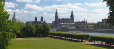 Skyline de Dresden Foto de Stock Royalty Free