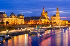Skyline de Dresden Alemanha imagem de stock