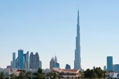 Skyline de Dubai imagens de stock royalty free