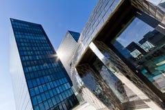 Skyline de Dusseldorf, Alemanha imagem de stock