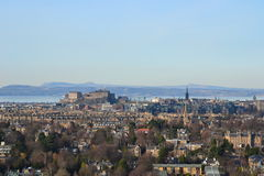 Skyline de Edimburgo Fotografia de Stock