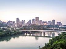 Skyline de Edmonton do centro, Alberta, Canadá fotos de stock