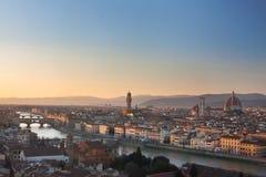 Skyline de Florença Foto de Stock