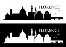 Skyline de Florença - Itália - ilustração Fotos de Stock Royalty Free