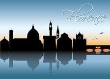 Skyline de Florença - Itália - ilustração Imagens de Stock