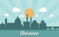 Skyline de Florença - Itália - ilustração do vetor Fotos de Stock