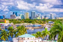 Skyline de Florida do Fort Lauderdale fotografia de stock royalty free