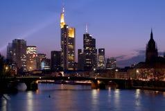 Skyline de Francoforte Fotografia de Stock Royalty Free