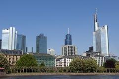 Skyline de Francoforte Alemanha Imagem de Stock Royalty Free