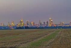 Skyline de Francoforte - am - cano principal Fotos de Stock Royalty Free