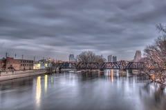 Skyline de Grand Rapids Michigan foto de stock