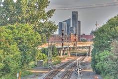 Skyline de Grand Rapids Michigan imagem de stock royalty free