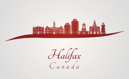 Skyline de Halifax V2 no vermelho Imagens de Stock Royalty Free