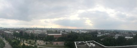 Skyline de Hamburgo imagem de stock