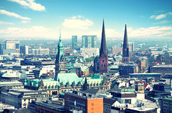 Skyline de Hamburgo Imagens de Stock