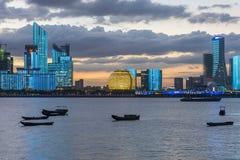 Skyline de Hangzhou imagem de stock